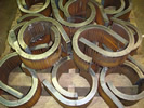 Flame Cut and Rolled 50mm Thick Clamps